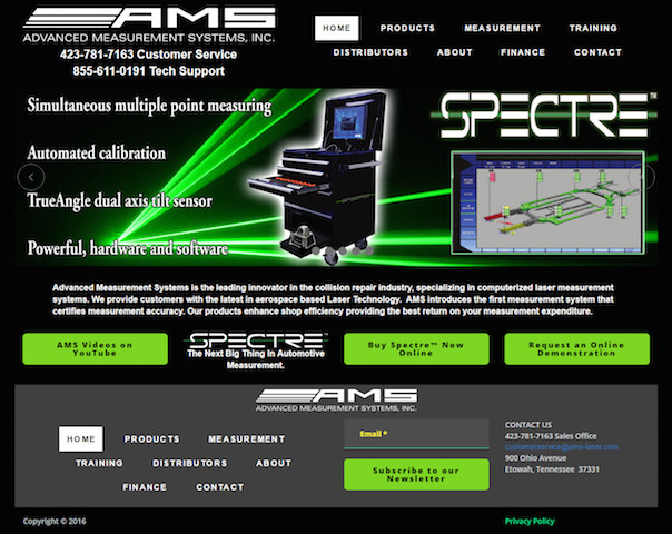 AMS Homepage redesign