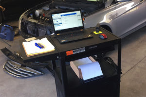 Mobile Carts Equipped with Rechargeable Printers