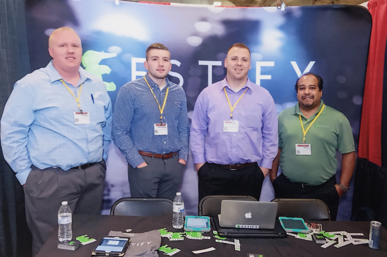 THE ESTIFY TEAM: Ryan Miner-GM of Transfer, Spencer Wilkins-Inside Sales Manager, Tony Fish-Inside Sales Manager, Dan Austin-VP of OEM Strategy