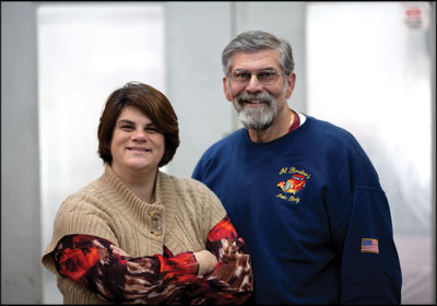 Family Matters—Al Brodeur, right, knows that his daughter Molly Brodeur, left, is the right person to take over his repair center when he retires, although she had a lot to learn about the industry first.
