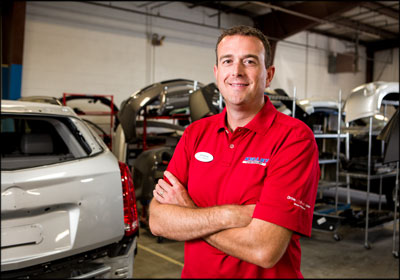 SERVICE FIRST: Nathan Nix says  the success at Kelley Automotive Group's body shop is tied to a focus on customer service. Photo by Eye Pix Photography