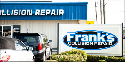 BUILDING BUSINESS: Since opening in 2003, Frank's Collision Repair has seen double-digit revenue growth each year. Photo by Brian Harrison