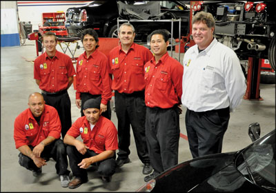 A TEAM EFFORT: The staff at Ferrari Maserati of Beverly Hills operates as an efficient unit, thanks in large part to new standard operating procedures and a commitment to continuous learning.