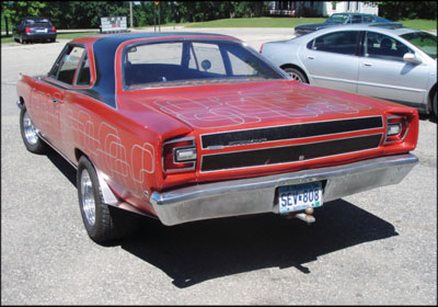 TEENAGE DREAM: 17-year-old Scott Peterson poured 300–400 hours and $1,500 into his 1968 Plymouth Roadrunner.