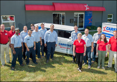 BUILDING A TEAM: Lisa Siembab has worked to find unique ways to find the right hires for her business, CARSTAR Berlin in Berlin, Conn. The 16-person team includes people of diverse backgrounds and experience levels, who all bring different talents and perspectives to the business.