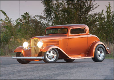PRIZED POSSESSION: Bruce Tschida loves taking his 1932 Ford coupe to shows. Other than that, he rarely drives it; he has put only 1,000 miles on the car since 2010. Courtesy Bruce Tschida