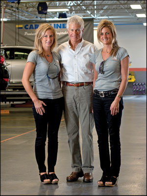 FAMILY TIES: Industry icon Michael Giarrizzo Sr. works with daughters Jill Strauss, left, and Lauren Angie as a business advisor. Miranda Marrs