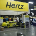 The Hertz booth.