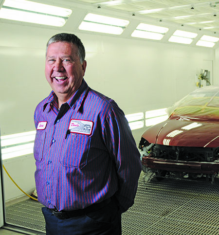 MAINTAINING A POSITIVE ATTITUDE: In the aftermath of his shop's fire, shop owner Dave Wierer believes that maintaining focus and putting on a brave face went a long way in creating trust among employees and customers.