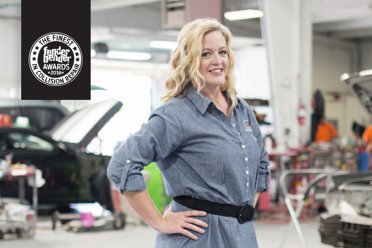 THE EXTRA MILE: Meleah Montgomery's dedication to her role at Collision Works has helped propel the company forward and bring more people into the industry. Photography By Elyse Fair