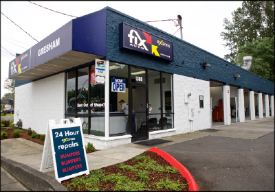 Bumper Basics: Shon Kim opened a second facility to handle Fix Auto Gresham's express bumper work. The no-frills second location is focused on efficiency above all else.