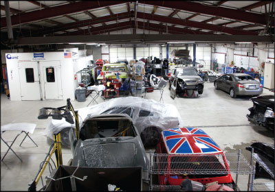 FULL BAYS, AGAIN: Business at AutoSport Quality Collision Repair initially took a big hit after cutting ties with DRPs, but a new emphasis on marketing ultimately drew in record sales. Photo by Crystal Allen