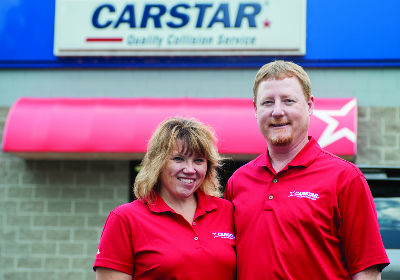 STANDING THEIR GROUND: Tony and Sharon Kempen have gone from new owners to purchasing a second location in less than 18 months. Now, the Kempens' two CARSTAR facilities in Wisconsin are on pace for further growth. Photo by Jen Lazarski