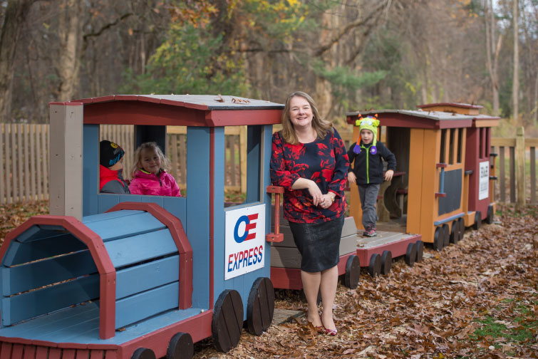 ALL ABOARD: Maryann Bowman didn't hesitate when a local school needed a playground—even when the total cost wound up escalating. Photos by Mainframe Photography