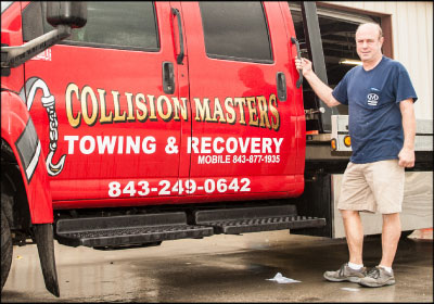 MASTER OF MYRTLE: Cotten now works almost exclusively out of his Myrtle Beach, S.C., location, Collision Masters, where he has a much more hands-on role in the day-to-day operations. Photo by Wayne Eggleston