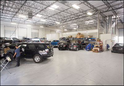 GOING BIG: The shop floor at New Look Collision Center's Henderson, Nev., facility.
