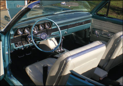 CRUISING COMET: The only modern parts used in Michael Phillips' carefully restored 1966 Mercury Comet Cyclone convertible are the radial tires, a concession made for better handling. Photo courtesy Michael Phillips