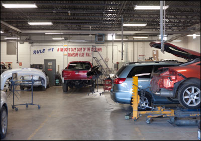 BUSINESS AS USUAL: CARSTAR Yorkville was able to keep its bays full  and revenue stable throughout the ownership transition. Photo by Mark Hartman