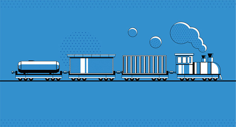 An illustration of a train